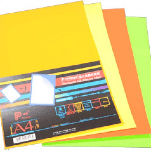Prestige Fluorescent Self Adhesive Label