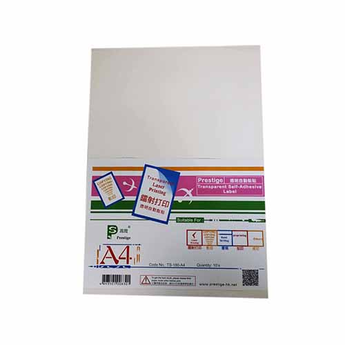 Prestige Laser Transparence Self Adhesive Label